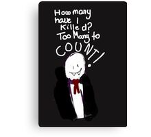 Bad Drawing Of Count Dracula Halloween Pun Canvas Print