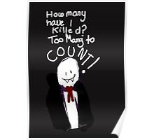 Bad Drawing Of Count Dracula Halloween Pun Poster