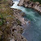 East fork Lewis River view from NE Hantwick Road bridge by quiquilee