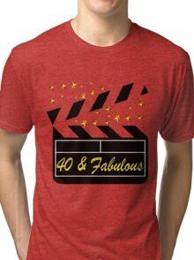 40TH MOVIE QUEEN Tri-blend T-Shirt