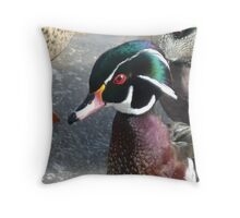 """""""Wood Duck"""" Throw Pillow"""