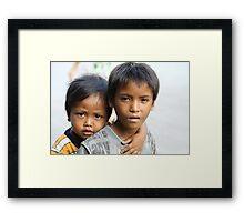 Khymer Kids  Framed Print