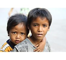 Khymer Kids  Photographic Print