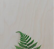 Wood Plank with Fern by Bethany Helzer