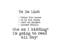 To Do List by bookscupcakes