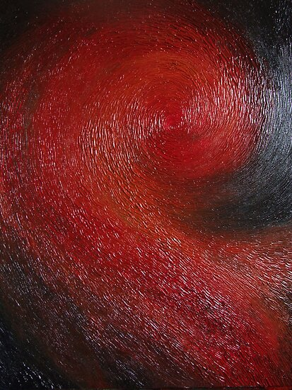 Red Spiral by Cahl Schroedl