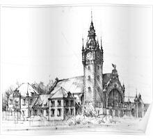 Gdansk Railway Station Poster
