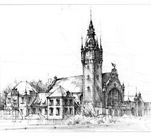 Gdansk Railway Station Photographic Print