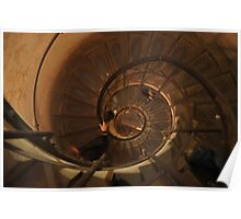 Climbing the Staircase within the Arc de Triomphe Poster