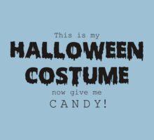 """Halloween Costume"" -black font One Piece - Short Sleeve"