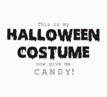 """Halloween Costume"" -black font One Piece - Short Sleeve"