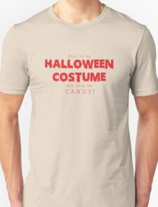 """Halloween Costume"" -red font Unisex T-Shirt"