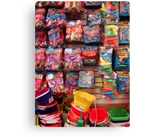 Buckets and Toys Canvas Print