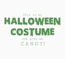 """Halloween Costume"" -green font One Piece - Long Sleeve"
