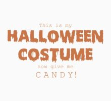 """Halloween Costume"" -orange font One Piece - Long Sleeve"