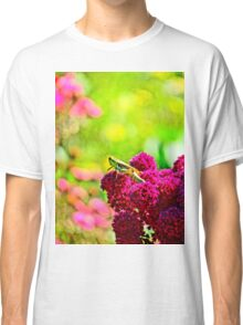 Grasshopper on Fuschia Flowers Classic T-Shirt