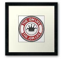 The jdm life badge - red Framed Print