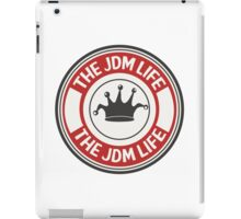 The jdm life badge - red iPad Case/Skin