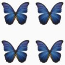 4 Blue Butterflies Stickers by avdesigns