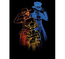 One Piece Brothers - colored lineart Photographic Print