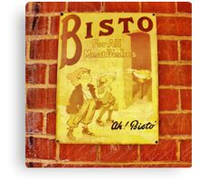 Ah! Bisto- Retro Print Canvas Print
