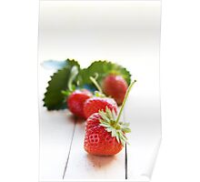 Freshly Picked Strawberries Poster