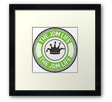 The jdm life badge - green Framed Print