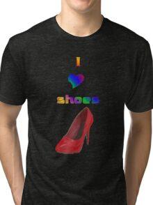 I Love Shoes Tri-blend T-Shirt