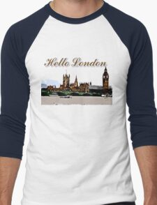 Beautiful London Bigben& Thames river Men's Baseball ¾ T-Shirt