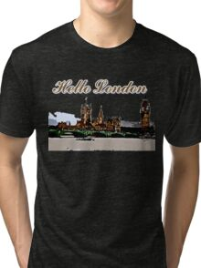 Beautiful London Bigben& Thames river Tri-blend T-Shirt