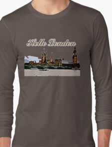 Beautiful London Bigben& Thames river art Long Sleeve T-Shirt