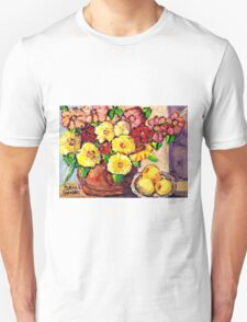 YELLOW FLOWERS WITH PEARS BEAUTIFUL AND ORIGINAL FLORAL  Unisex T-Shirt
