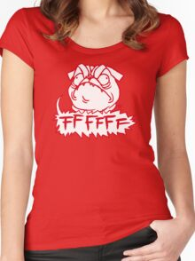 Mad Dogs: FFFFFF Pug Women's Fitted Scoop T-Shirt