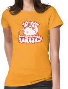Mad Dogs: FFFFFF Pug Womens Fitted T-Shirt