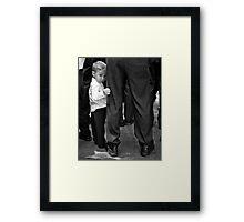 Shy Little Guy Framed Print