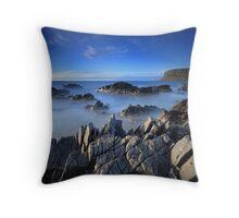 Misty Seas Throw Pillow