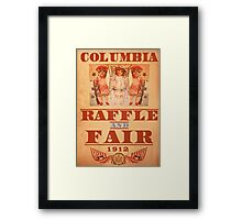 BioShock Infinite – Columbia Raffle and Fair Poster Framed Print