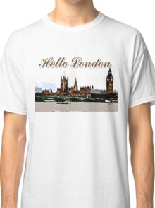 Beautiful London Bigben& Thames river art Classic T-Shirt