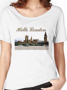 Beautiful London Bigben& Thames river art Women's Relaxed Fit T-Shirt