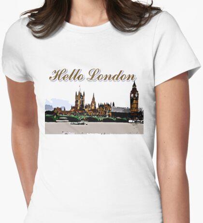 Beautiful London Bigben& Thames river art Womens Fitted T-Shirt