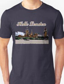 Beautiful London Bigben& Thames river art Unisex T-Shirt