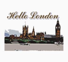 Beautiful London Bigben& Thames river art Kids Clothes