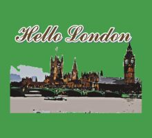 Beautiful London Bigben& Thames river art Kids Tee