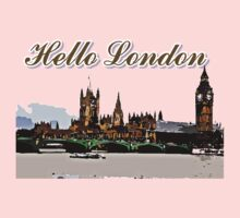 Beautiful London Bigben& Thames river art One Piece - Short Sleeve