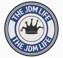 The jdm life badge - blue Kids Clothes