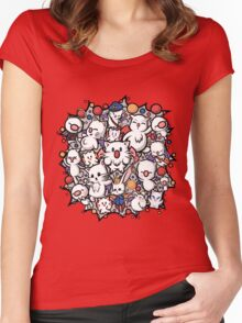 Final Fantasy Moogles - Pom Pom Party Women's Fitted Scoop T-Shirt