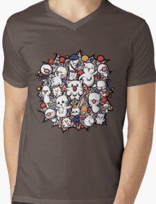Final Fantasy Moogles - Pom Pom Party Mens V-Neck T-Shirt
