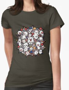 Final Fantasy Moogles - Pom Pom Party Womens Fitted T-Shirt