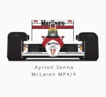 Ayrton Senna - McLaren MP4/4 front view by JageOwen