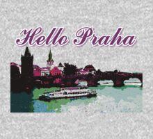 Beautiful Praha castle and karls bridge art One Piece - Long Sleeve